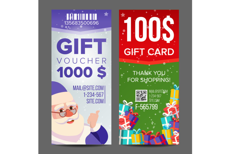 voucher-coupon-template-vector-vertical-leaflet-offer-merry-christmas-happy-new-year-santa-claus-and-gifts-promotion-advertisement-free-gift-illustration