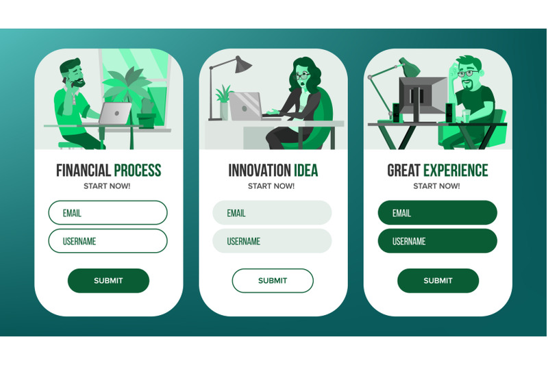 web-page-banners-design-vector-business-reality-creative-project-cartoon-person-onboarding-screen-information-tools-illustration