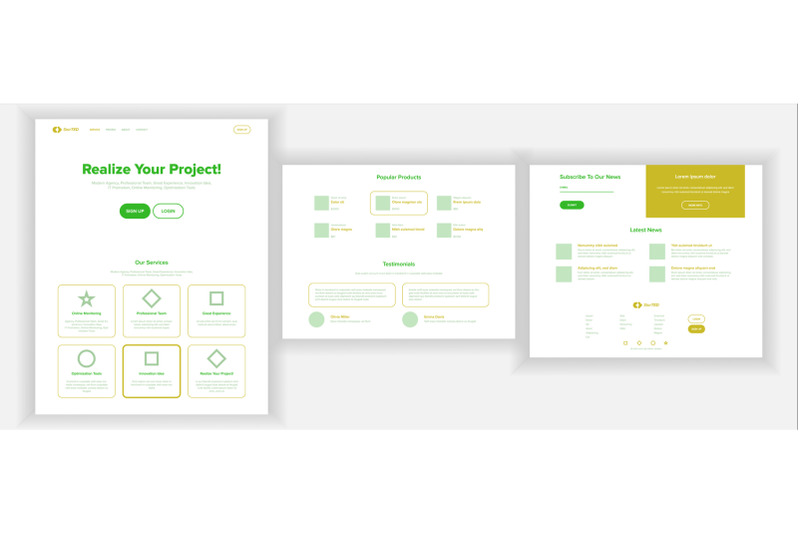 website-design-template-vector-business-project-landing-web-page-financial-management-looking-opportunity-popular-ptroducts-conference-course-illustration
