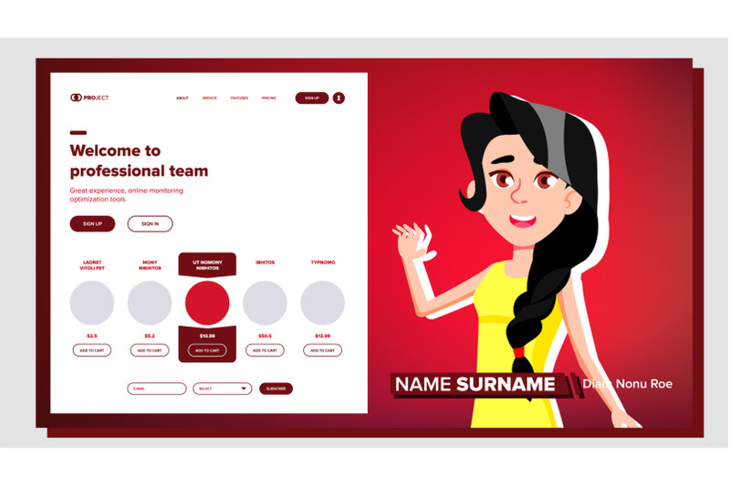 self-presentation-vector-caucasian-feamle-introduce-yourself-or-your-project-business-illustration