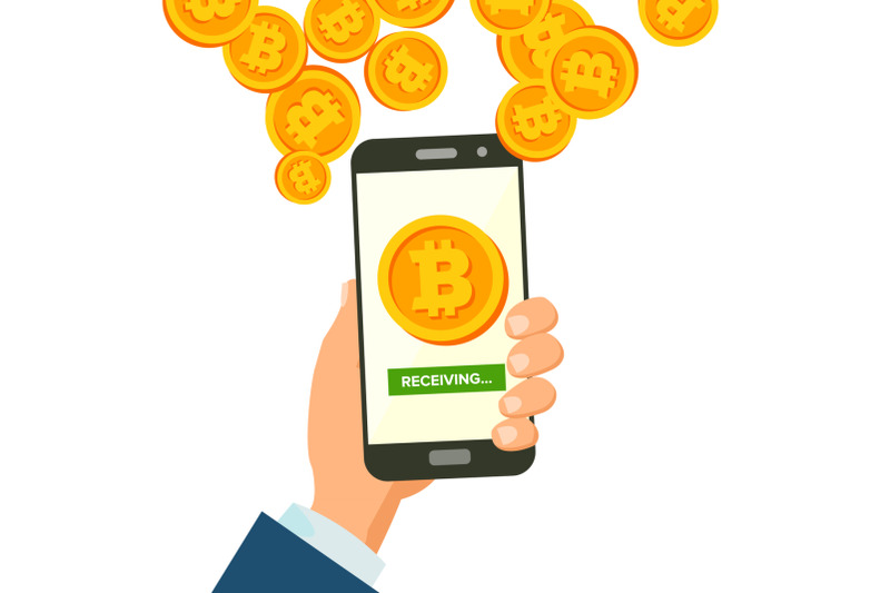 mobile-bitcoin-receiving-concept-vector-modern-finance-economic-wireless-bitcoin-finance-receiving-concept-hand-holding-smartphone-digital-currency-in-smartphone-application-isolated-illustration