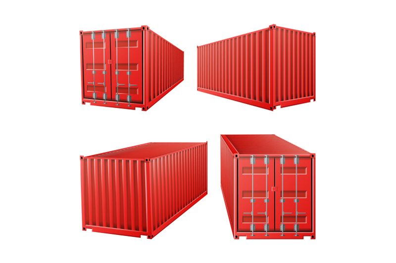 3d-red-cargo-container-vector-classic-cargo-container-freight-shipping-concept-logistics-transportation-mock-up-isolated-on-white-background-illustration