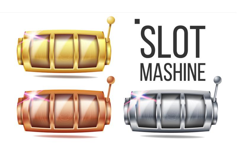 empty-slot-machine-set-vector-golden-silver-bronze-spin-machine-template-fortune-jackpot-casino-illustration