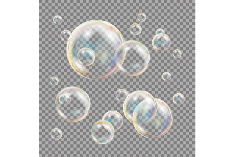 3d-soap-bubbles-transparent-vector-sphere-ball-water-and-foam-design-isolated-illustration