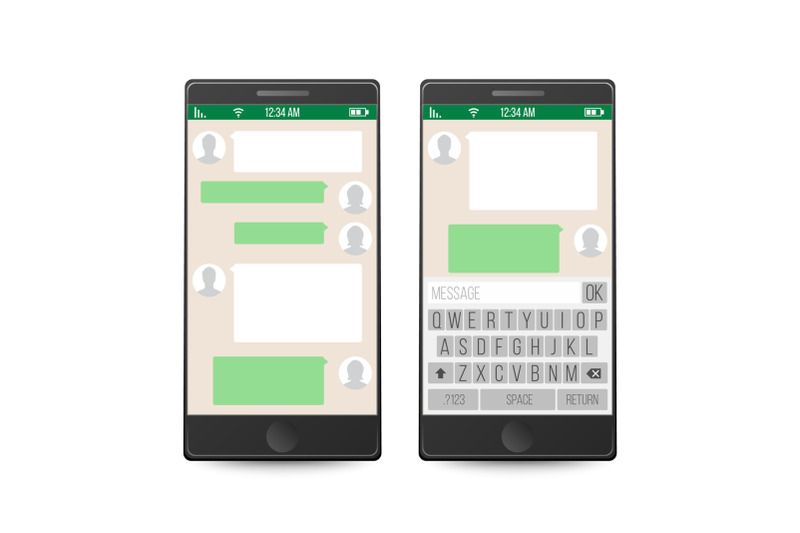 smartphone-social-network-concept-vector-messenger-window-design-mobile-app-for-talking-isolated-vector-illustration