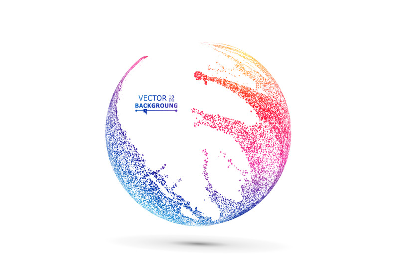 colorful-sphere-composition-vector-dotted-abstract-graphics-isolated-on-white-background