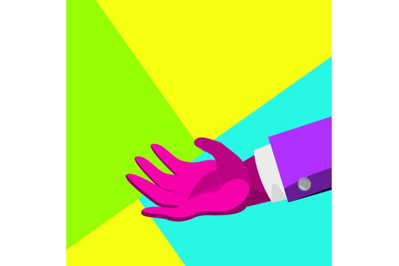 minimal-surreal-hand-vector-creative-surrealism-people-poster-concept-trendy-summer-colors-minimalism-flat-illustration