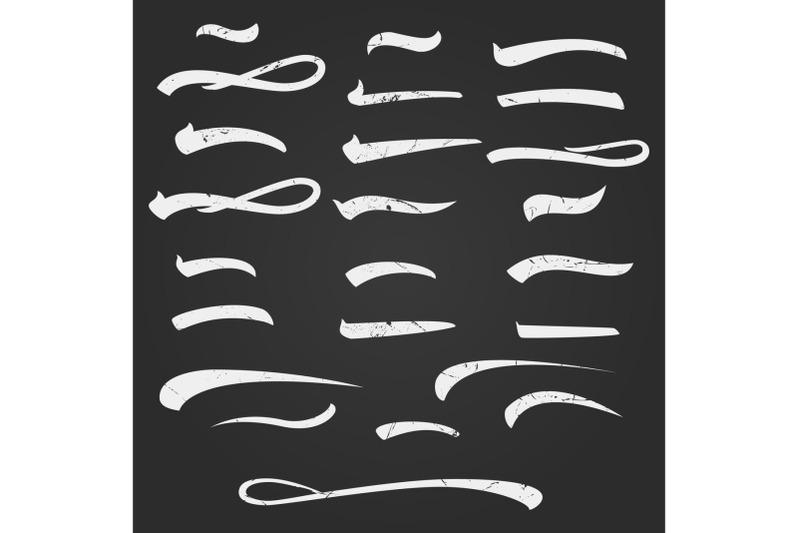 set-of-hand-lettering-underlines-lines-isolated-on-white-handwritten-letter-vintage-elements-for-your-design-vector-illustration-handwritten-marker