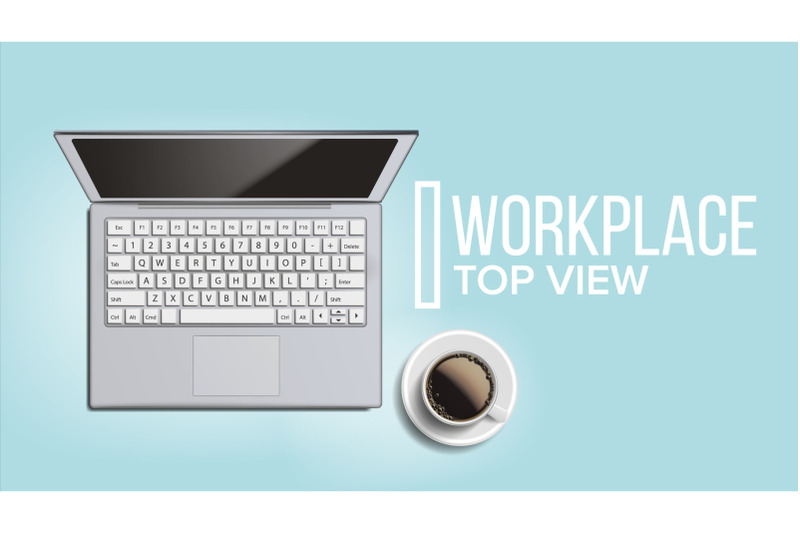 workplace-desktop-background-vector-lifestyle-relaxing-concept-laptop-keyboard-coffee-cup-smartphone-notebook-table-illustration