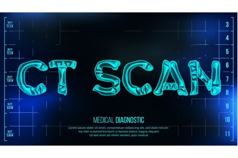 ct-scan-banner-vector-medical-background-transparent-roentgen-x-ray-text-with-bones-radiology-3d-scan-medical-health-typography-futuristic-technology-illustration