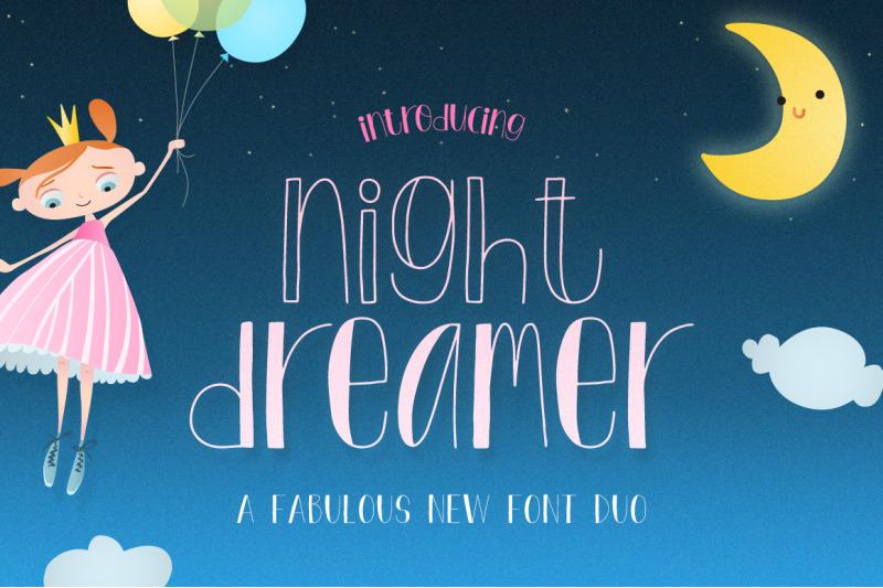 night-dreamer-font-duo-serif-fonts-cute-fonts-kids-fonts