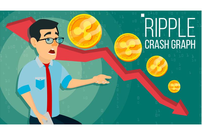 ripple-crash-graph-vector-surprised-investor-negative-growth-exchange-trading-collapse-of-crypto-currency-ripple-crypto-currency-market-concept-annoyance-panic-flat-cartoon-illustration