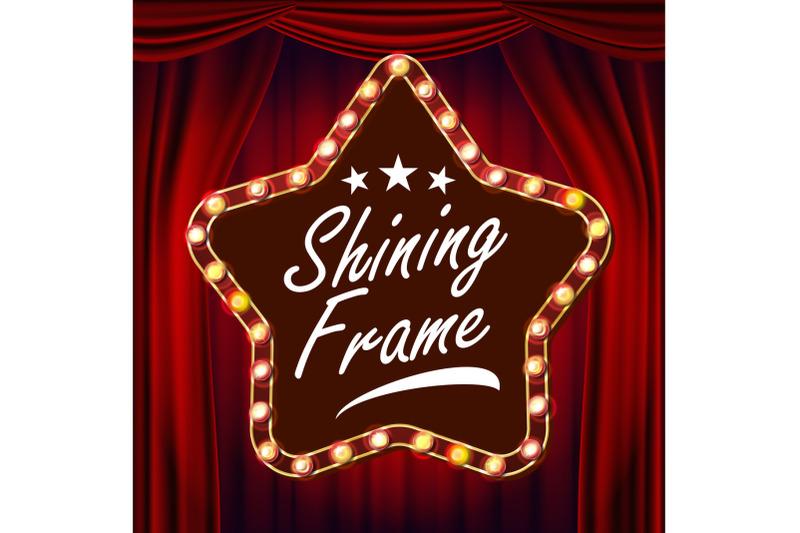 star-billboard-vector-red-theater-curtain-shining-light-sign-board-realistic-shine-star-lamp-frame-carnival-circus-casino-style-illustration