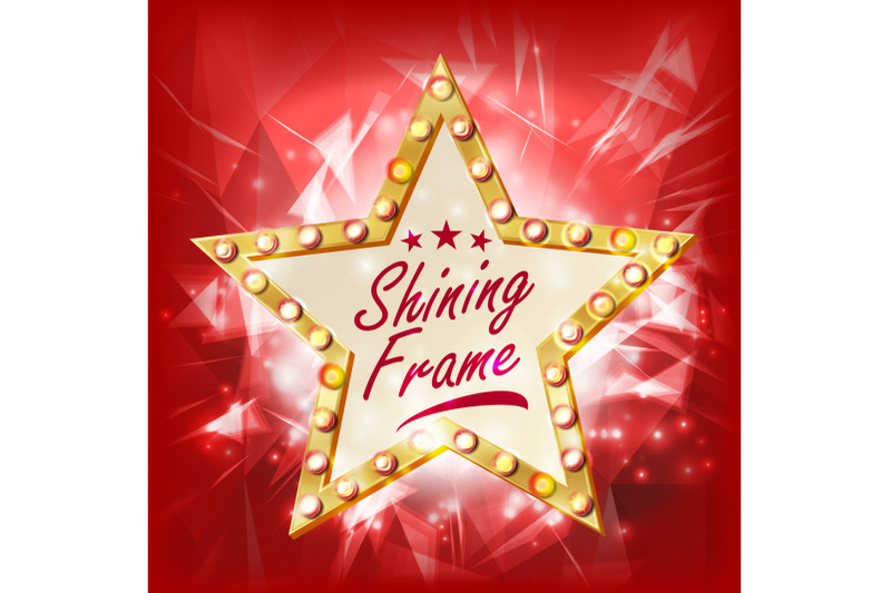 gold-star-frame-vector-beauty-diamond-star-emblem-shine-lamp-advertising-design-element-decoration-illustration