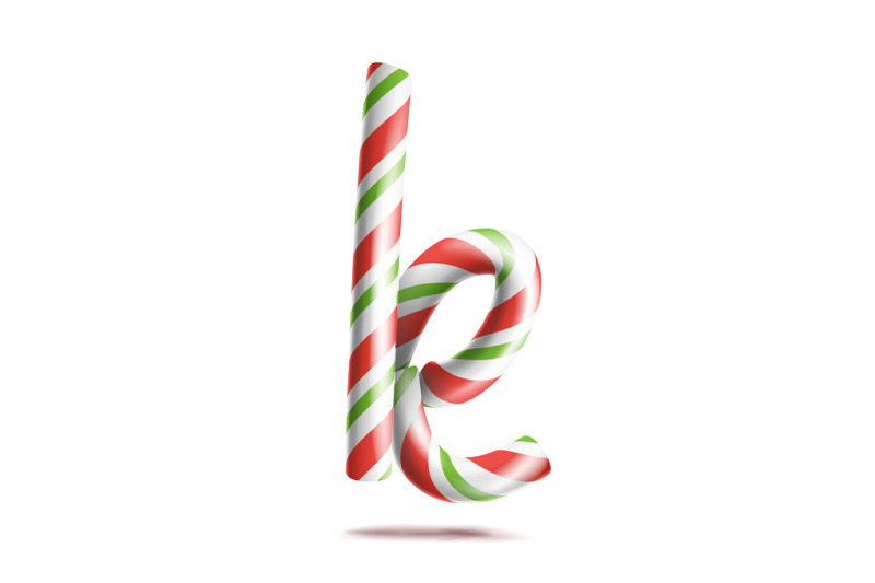 letter-k-vector-3d-realistic-candy-cane-alphabet-symbol-in-christmas-colours-new-year-letter-textured-with-red-white-typography-template-striped-craft-isolated-object-xmas-art-illustration