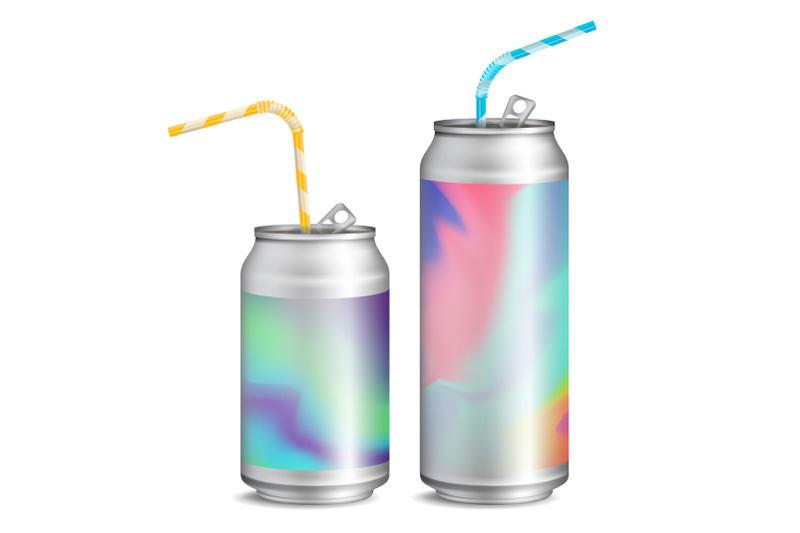 realistic-metallic-cans-vector-soft-drink-3d-blank-aluminium-cans-colorful-drinking-straws-different-types-good-for-branding-design-500-300-ml-isolated-illustration