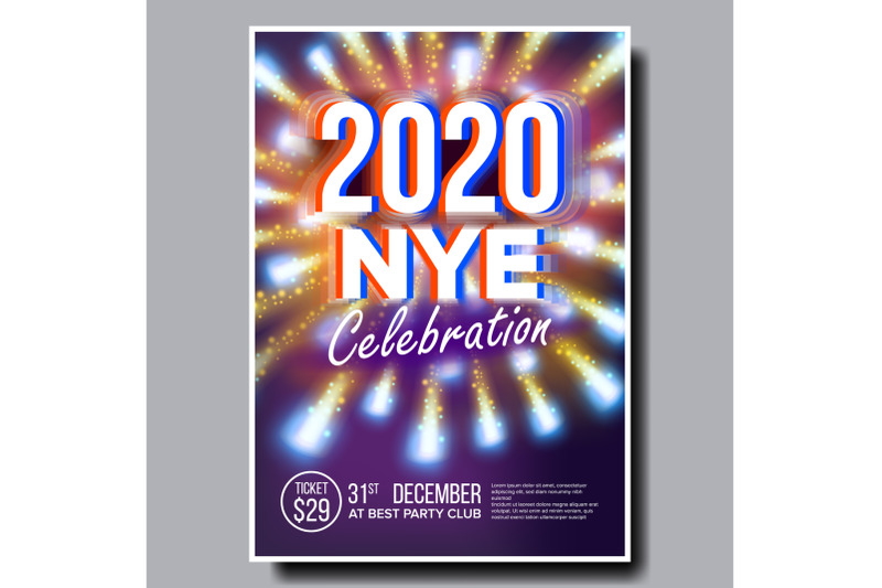 2020-christmas-party-flyer-poster-vector-happy-new-year-holiday-invitation-christmas-disco-light-design-illustration