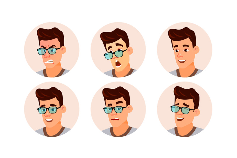 avatar-man-vector-human-emotions-stylish-image-flat-character-illustration