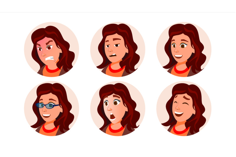 business-avatar-woman-vector-human-emotions-stylish-image-flat-character-illustration