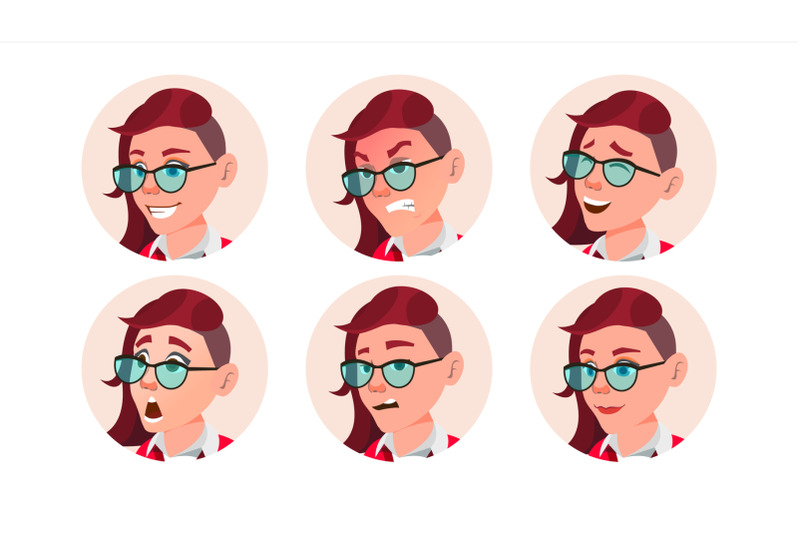 woman-avatar-people-vector-facial-emotions-emo-freak-hairstyle-pink-user-person-beauty-lady-happy-unhappy-expressive-picture-isolated-flat-cartoon-illustration