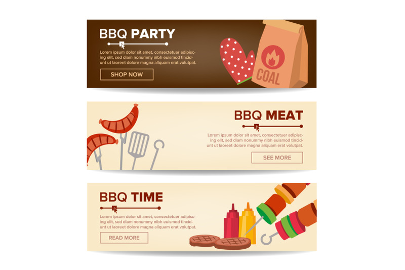 bbq-horizontal-promo-banners-vector-barbecue-web-background-grilled-meat-assortment-grilled-steak-sausages-vegetables-isolated-illustration