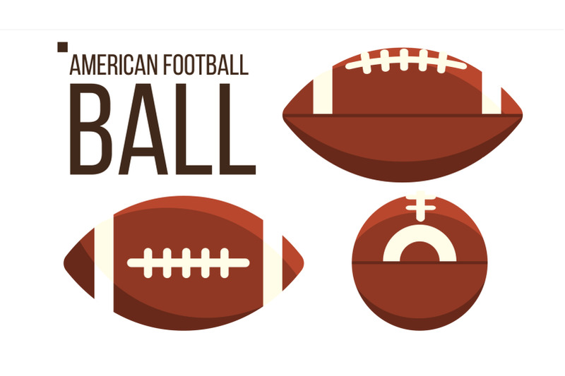 american-football-ball-vector-rugby-sport-equipment-different-view-isolated-flat-illustration