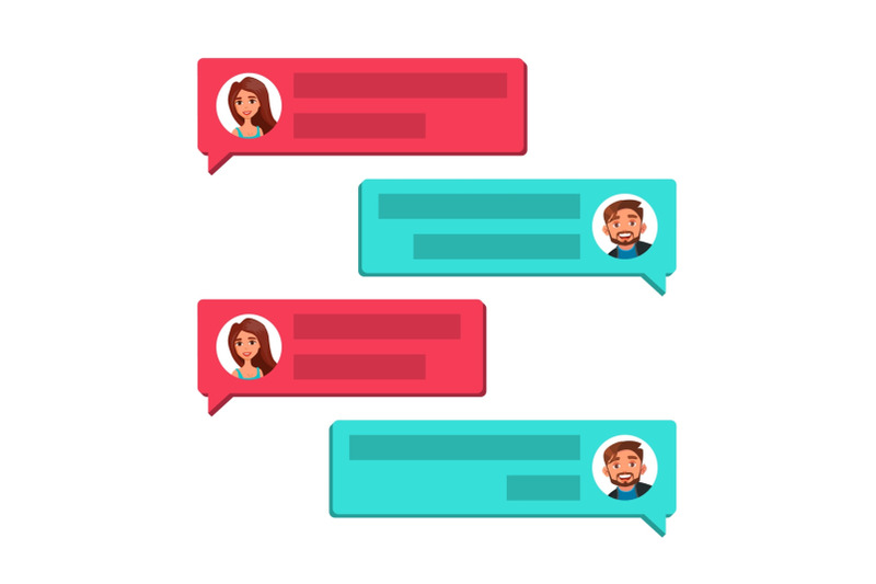 chatting-vector-communication-screen-dialog-symbol-bubble-speeches-messages-isolated-flat-cartoon-illustration