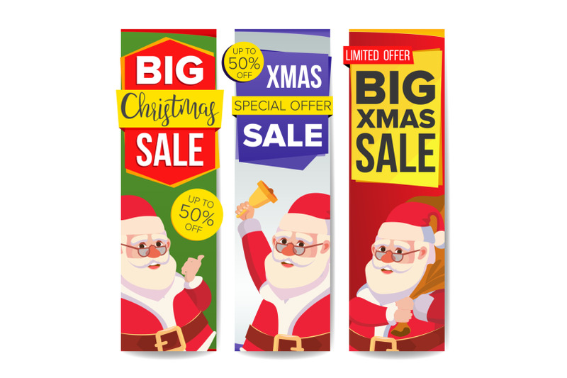 christmas-sale-banner-set-vector-merry-christmas-santa-claus-online-shopping-winter-website-vertical-banners-holidays-promo-design-xmas-advertising-special-element-discount-isolated-illustration
