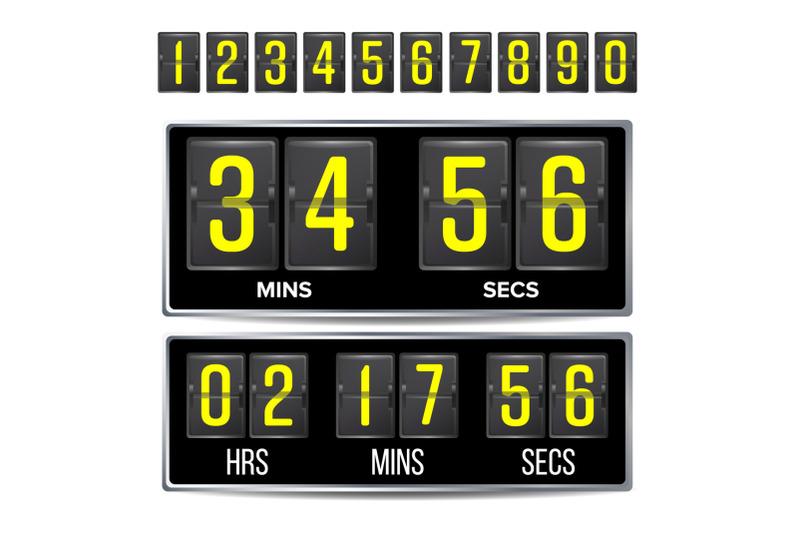 flip-countdown-timer-vector