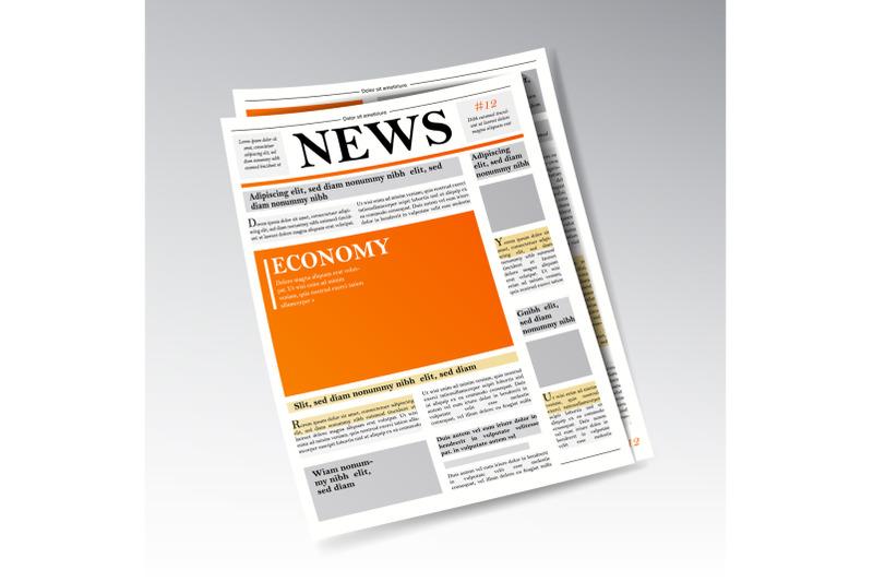 folded-realistic-economic-newspaper-vector-business-finance-information-daily-newspaper-journal-design-illustration