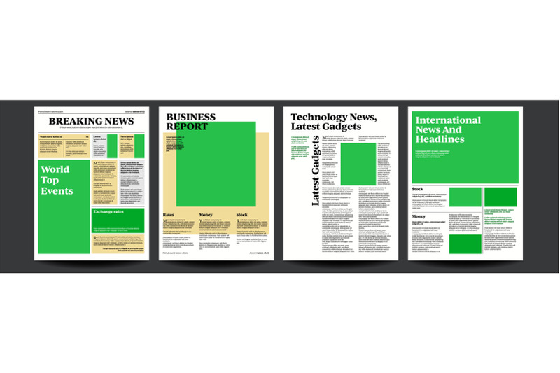 newspaper-vector-daily-journal-design-financial-news-articles-advertising-business-information-illustration