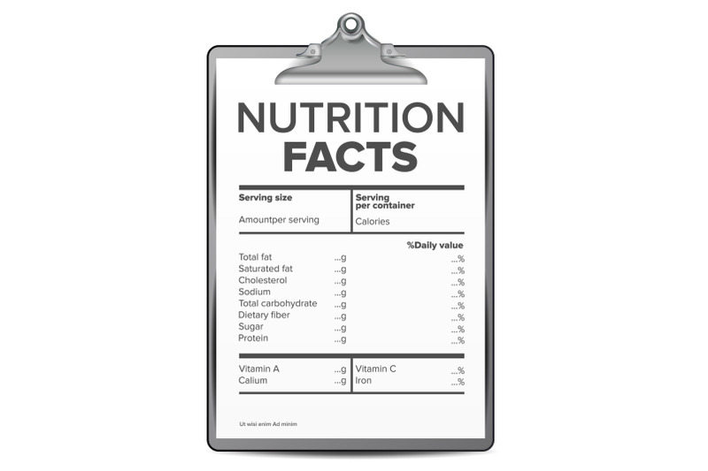 nutrition-facts-vector-blank-template-diet-calories-list-for-box-guideline-ingredient-calories-illustration