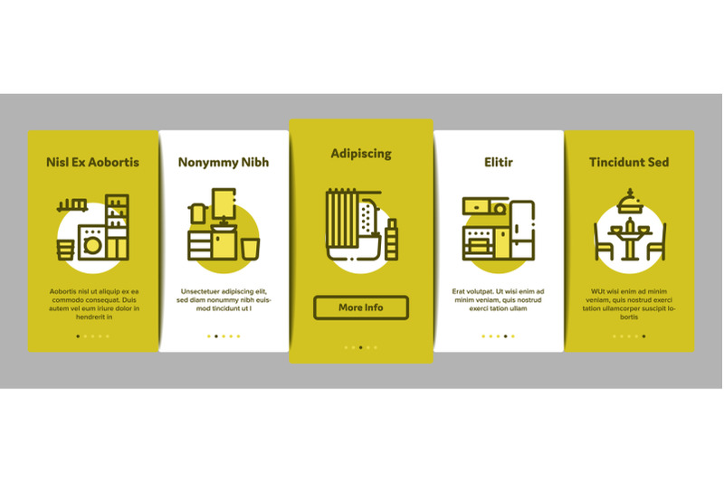 home-rooms-furniture-onboarding-elements-icons-set-vector