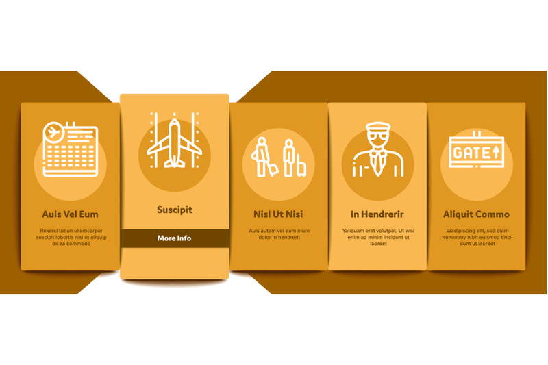 airline-and-airport-onboarding-elements-icons-set-vector