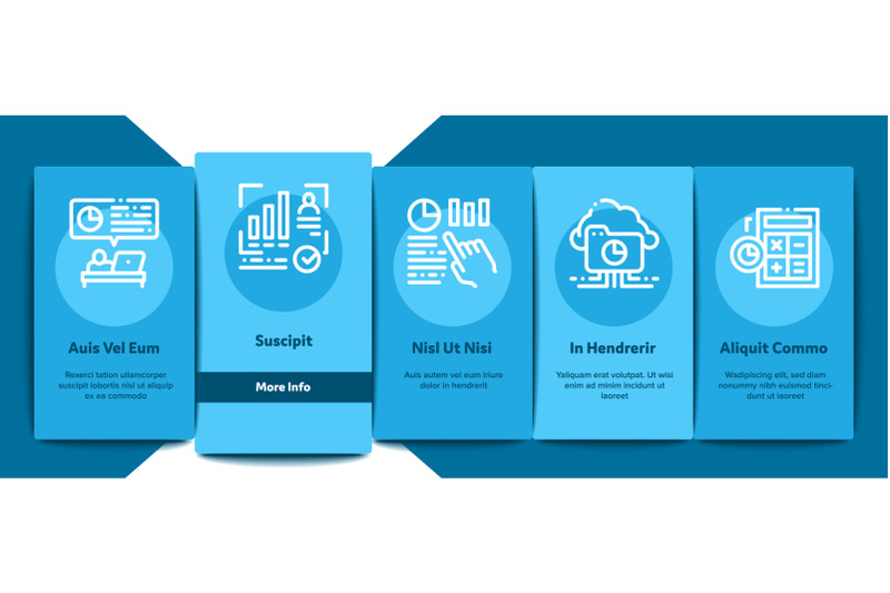statistician-assistant-onboarding-elements-icons-set-vector