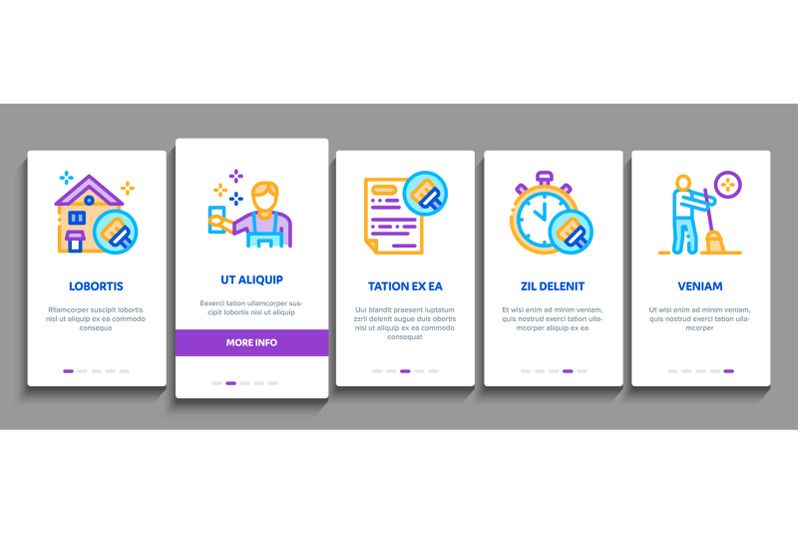 cleaning-service-tool-onboarding-elements-icons-set-vector