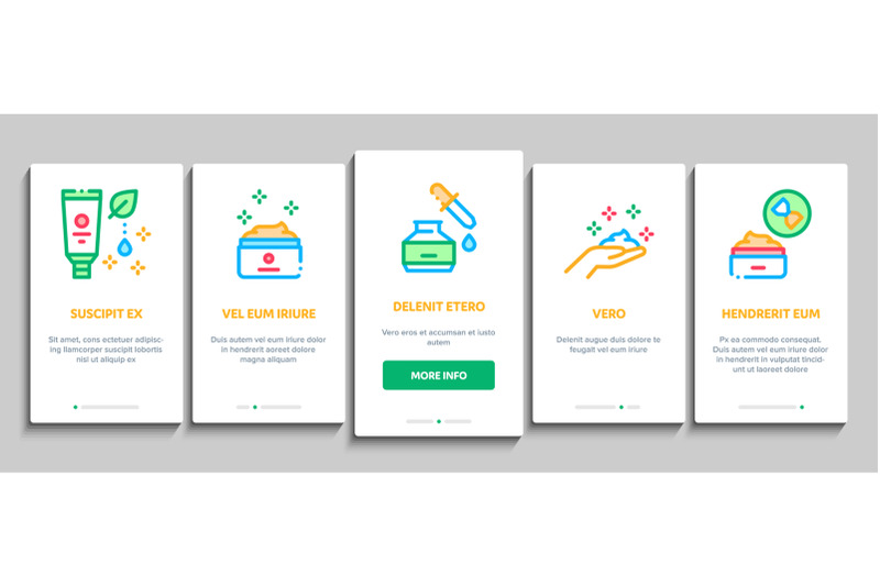 skin-care-cosmetic-onboarding-elements-icons-set-vector