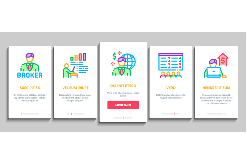 broker-advice-business-onboarding-elements-icons-set-vector