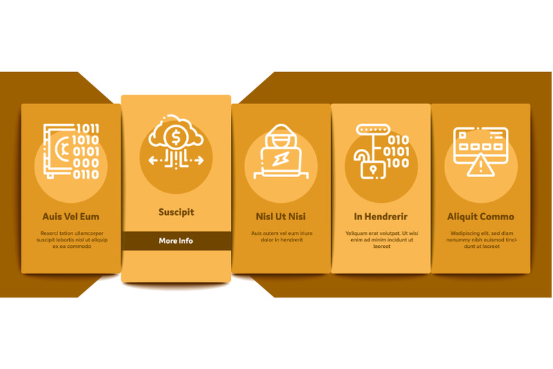 carder-hacker-onboarding-elements-icons-set-vector