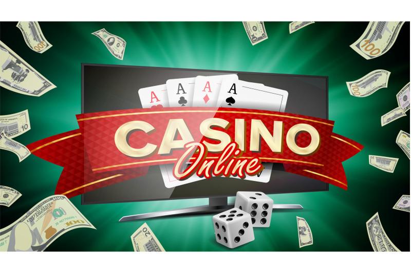 online-casino-banner-vector-realistic-computer-monitor-winner-lucky-symbol-jackpot-casino-billboard-signage-marketing-luxury-poster-illustration