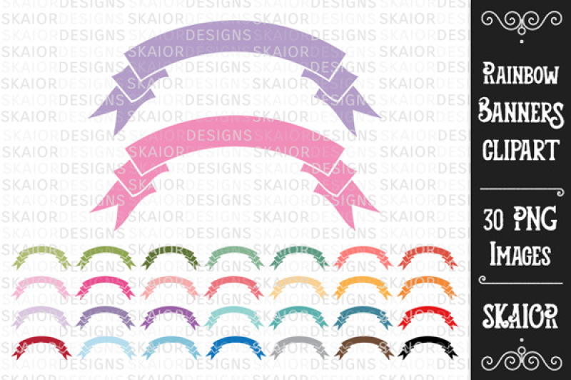 rainbow-pastel-banners-clipart