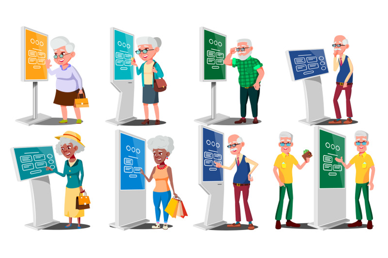 old-people-using-atm-digital-terminal-vector-man-woman-set-lcd-digital-signage-for-indoor-using-interactive-informational-kiosk-money-deposit-withdrawal-isolated-flat-cartoon-illustration