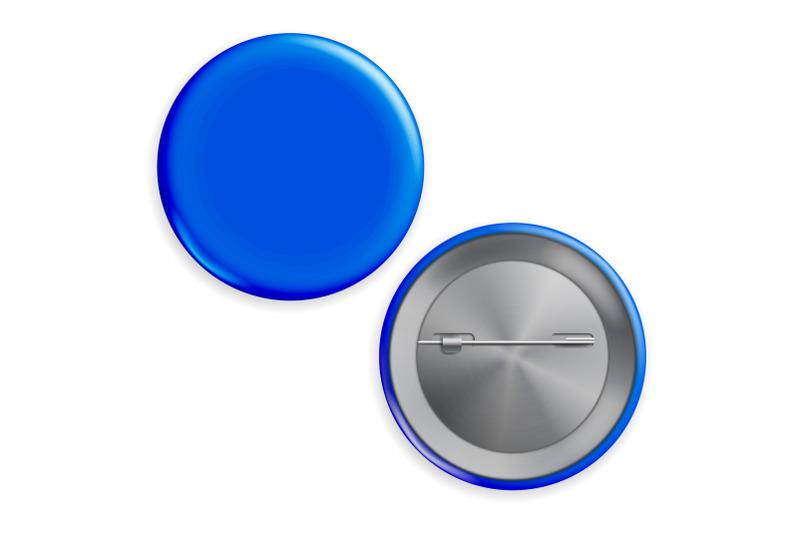 blank-blue-badge-vector-circle-button-badge-set-front-back-side