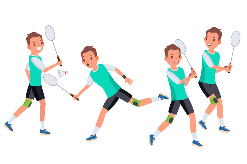 badminton-male-player-vector-in-action-racket-modern-sport-hobby-holding-shuttlecock-cartoon-character-illustration