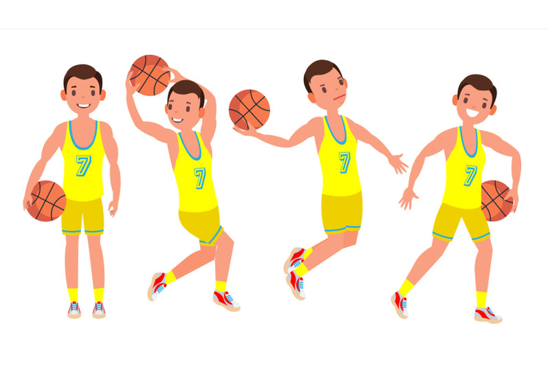 classic-basketball-player-man-vector-sports-concept-different-poses-sport-game-competition-flat-cartoon-illustration