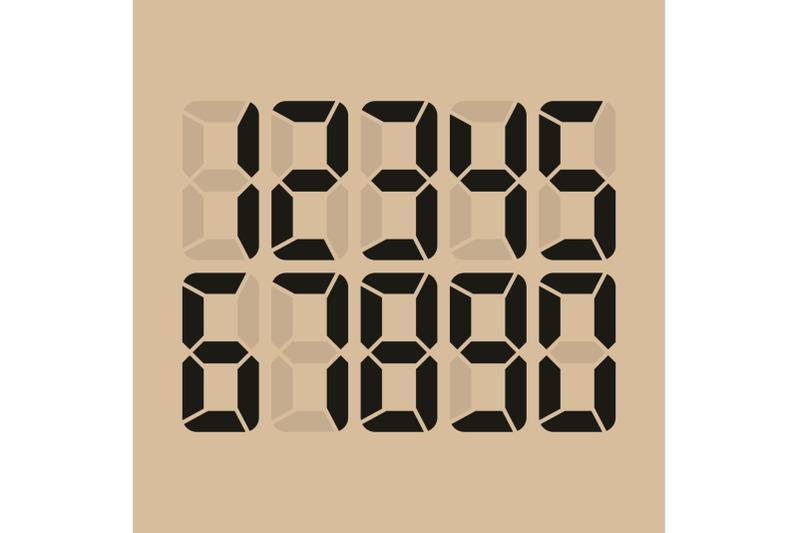 digital-glowing-numbers-vector
