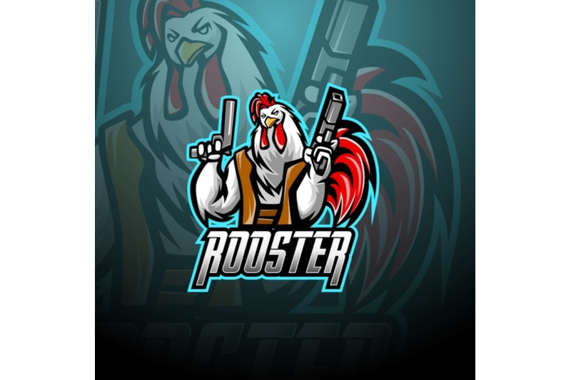rooster-with-gun-mascot-logo