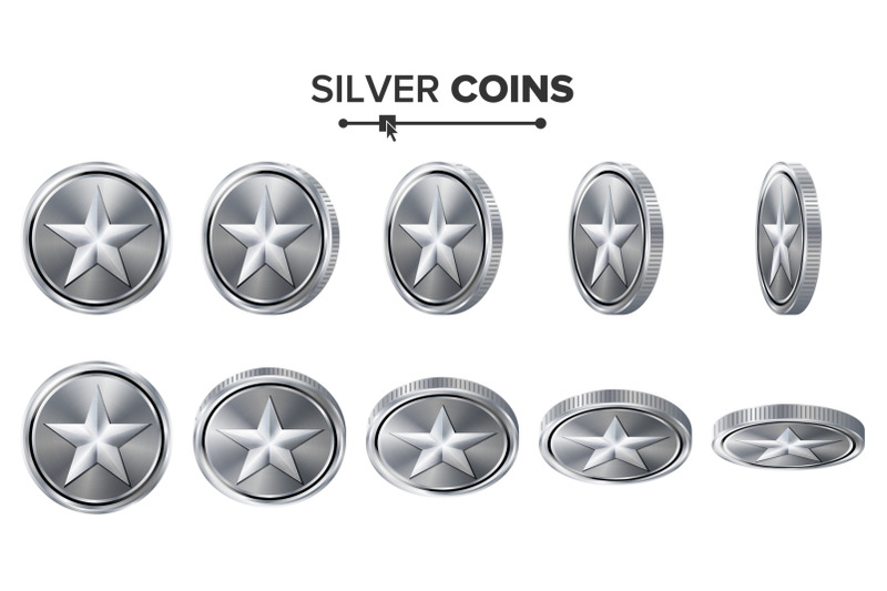 game-3d-silver-coin-vector-with-star-flip-different-angles-achievement-coin-icons-sign-success-winner-bonus-cash-symbol-illustration-isolated-on-white-for-web-game-or-app-interface