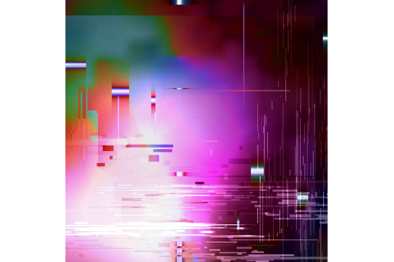 glitched-abstract-vector-background