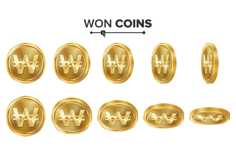 won-3d-gold-coins-vector-set-realistic-illustration-flip-different-angles-money-front-side-investment-concept-finance-coin-icons-sign-success-banking-cash-symbol-currency-isolated-on-white